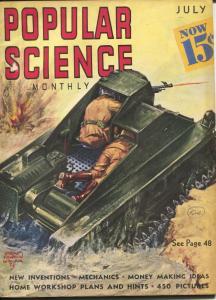 Popular Science 7/1938-Wittmark tank cover-electric chair-headhunter-VG/FN