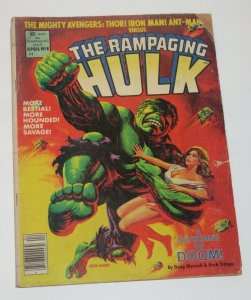 Rampaging Hulk #8 Magazine 1978 Marvel GD
