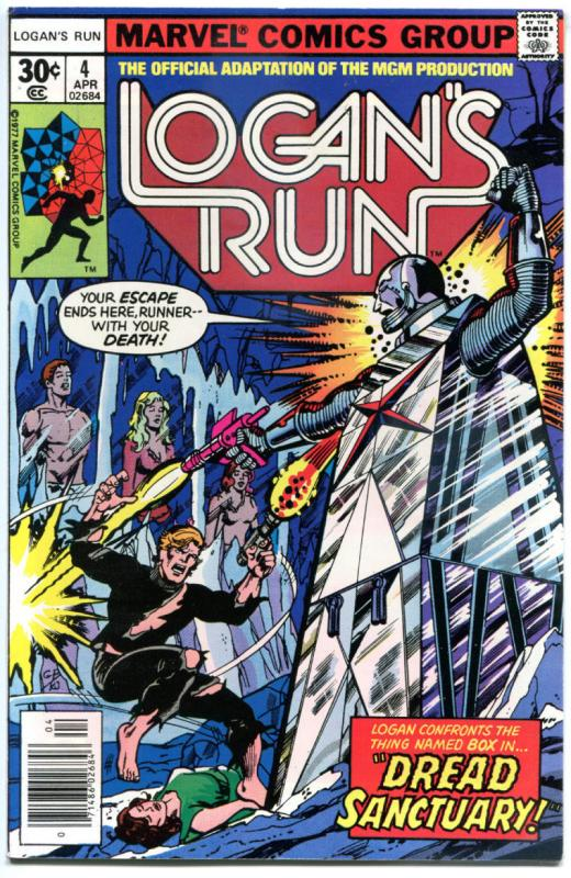 LOGAN'S RUN #4, NM-, Movie Adaption, George Perez, 1977, Bronze age