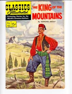 Classics Illustrated #127 (May-55) VG Affordable-Grade The King of the Moutai...