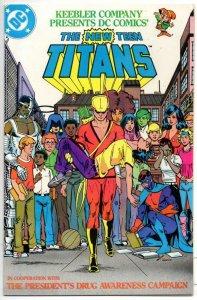 NEW TEEN TITANS Keebler Co #1, VF/NM,  anti Drug, Perez, 1983