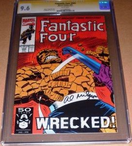 Fantastic Four #355 CGC 9.6 SIGNED Al Milgrom Marvel 1991 FF SS NM+ Sig Series