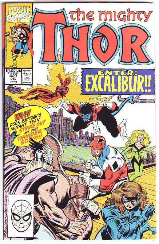 Thor, the Mighty Signed #427 (Dec-90) NM- High-Grade Thor