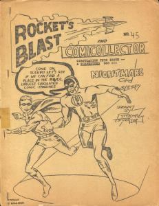Rocket's Blast  & Comicollector #45 1966-Phil Seuling-Rogofsky-Jerry Bails-VG