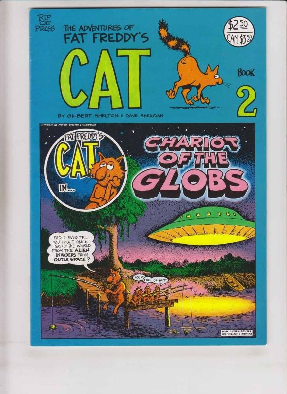 Adventures of Fat Freddy's Cat #2 VF (8th) print  gilbert shelton freak brothers