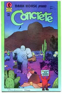 Dark Horse Presents CONCRETE #2, VF/NM, Signed by Paul Chadwick, 1986