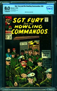 Sgt. Fury and His Howling Commandos #60 CBCS VF 8.0 Off White to White