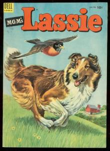 MGM'S LASSIE #14 '54-DELL COMIC-COLLIE RUNNING IN FIELD VF
