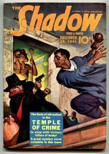 SHADOW 1941 NOV 15-high grade- STREET AND SMITH-RARE PULP vf