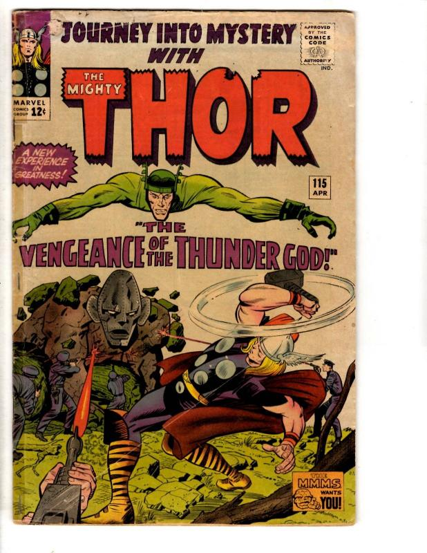 Journey Into Mystery # 115 VG Marvel Comic Book Feat. Mighty Thor Odin Loki RH3