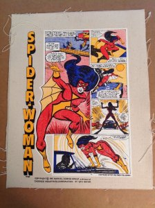 Vintage Spider-Woman handbag production art set Marvel Spider-Man