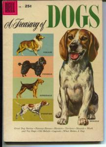 A Treasury of Dogs #1 1956-Dell-1st issue-Poodle-Beagle-Collie-FN-