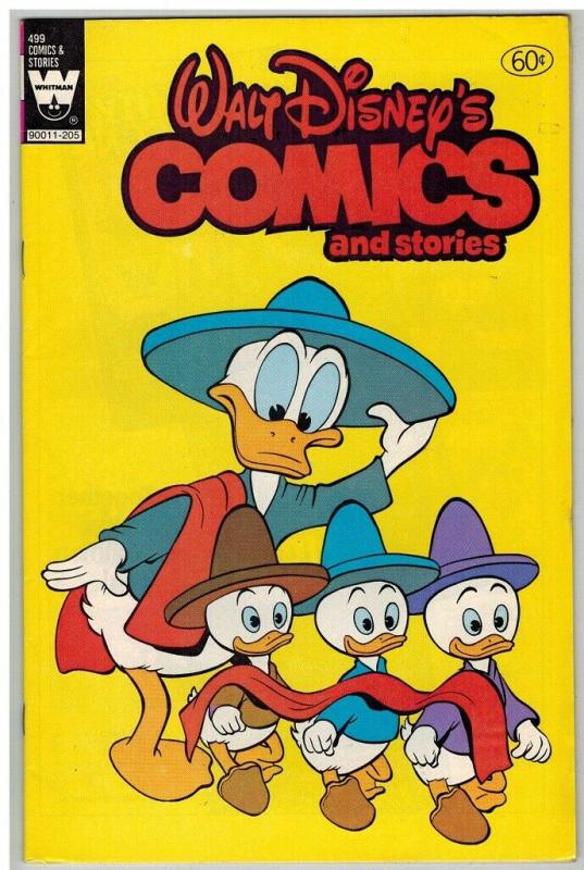 WALT DISNEYS COMICS & STORIES 499 F-VF COMICS BOOK