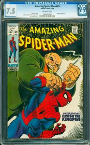Amazing Spider-Man #69 CGC Graded 7.5 Kingpin appearance.