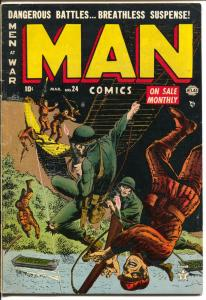 Man #24 1953-Atlas-Korean War stories-Napoleon's Waterloo-FN/VF