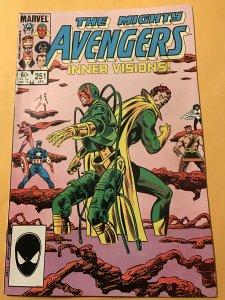 THE AVENGERS #251 : Marvel 1/85 Fn/VF; Vision story
