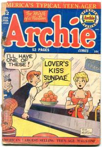 ARCHIE COMICS #42 1950-SODA SHOP COVER-BOB MONTANA-low grade copy P/FR