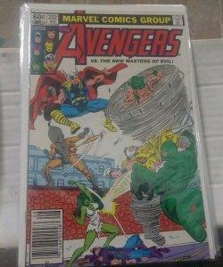 Avengers # 222 1983, Marvel  new masters of evil +SHE HULK + THOR +cap ironman
