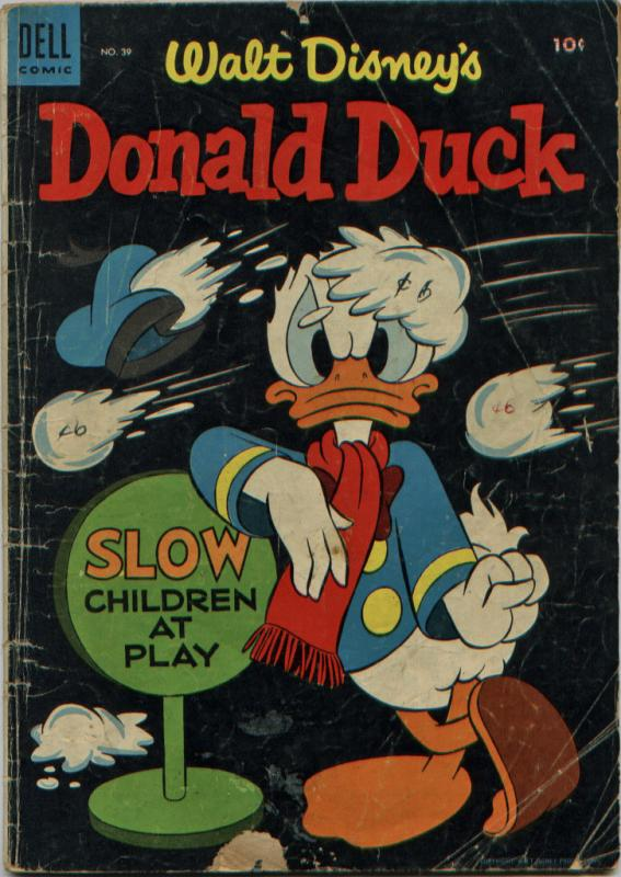 Donald Duck #39 (Dell, 1955) Nice, but for front cover