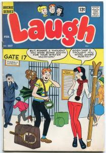 Laugh Comics #167 1965- Archie- Betty- Veronica Airport cover FN-