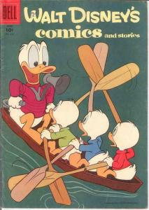 WALT DISNEYS COMICS & STORIES 213 VG-F Barks art COMICS BOOK