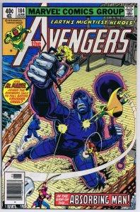 Avengers #184 ORIGINAL Vintage 1979 Marvel Comics Absorbing Man