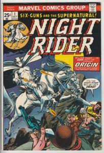 Night Rider, The #1 (Oct-74) VF/NM High-Grade Ghost Rider