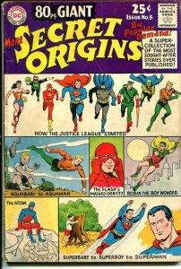 80 PAGE GIANT #8 1965-DC COMICS-MORE SECRET ORIGINS VG