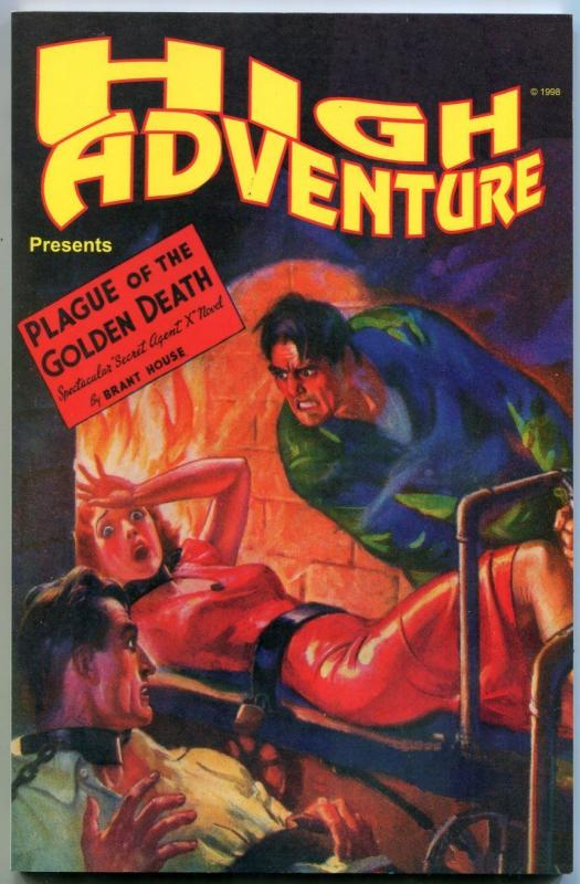 High Adventure #43 - Secret Agent X Plague of the Golden Death pulp reprint