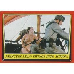 1983 Topps Star Wars Return Of The Jedi PRINCESS LEIA SWINGS INTO ACTION! #52 EX