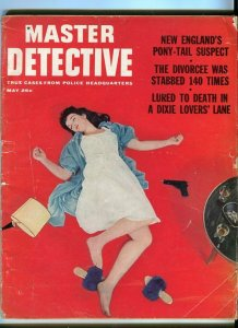 MASTER DETECTIVE-MAY/1962-TORCH SLAYINGS-MURDERED REVEREND-POSED FOR DEATH FR/G