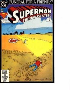Lot Of 2 Comic Books DC Superman Man of Steel #21 and Batman Dark Knight #1 ON10