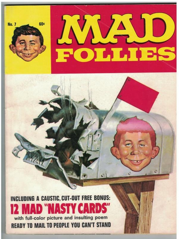 MAD FOLLIES (1969) 7 VG with NASTY CARDS