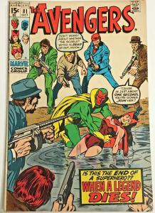 AVENGERS#81 FN 1970 MARVEL BRONZE AGE COMICS