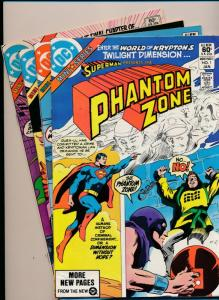 DC SUPERMAN in THE PHANTOM ZONE complete mini series #1-4 VF+ (HX683)