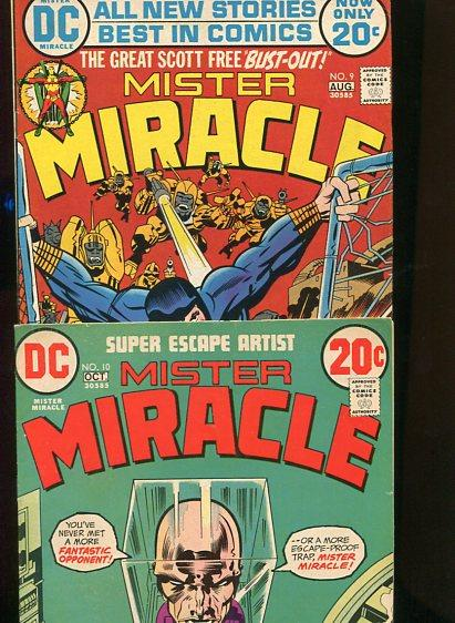 MISTER MIRACLE #9 AND #10  8.0/8.5  WHITE PAGES (1973) 2 BOOKS
