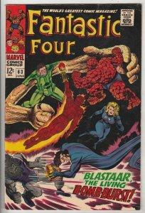 Fantastic Four #63 (Jun-67) VF High-Grade Fantastic Four, Mr. Fantastic (Reed...