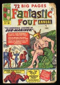 Fantastic Four Annual #1 FA/GD 1.5