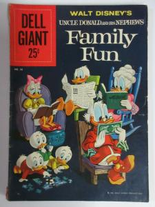 DELL GIANT  #38(Dell, 11/1960)VG(Very Good) Uncle Donald &his Nephews Family Fun