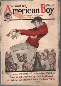 American Boy 10/1921-WW Clarke cover-bicycle ads-pulp fiction-football-FR
