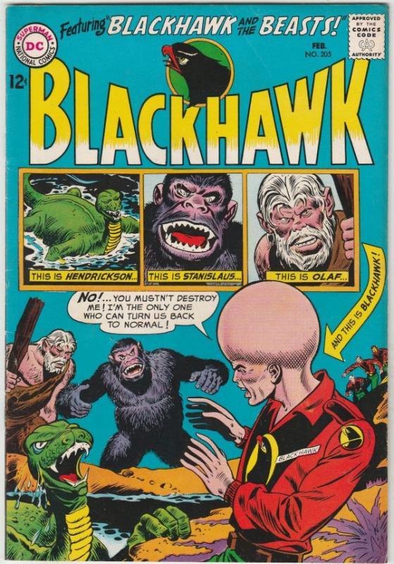 Blackhawk #205 (Feb-65) NM- High-Grade Black Hawk, Chop Chop, Olaf, Pierre,Ch...