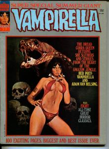 Vampirella #37 1974-Warren-Vampi cover-horror-mystery-100 page issue-FN/VF