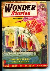 Wonder Stories-Pulps-1/1935-Hugo Gernsbuck-Edmund Hamilton
