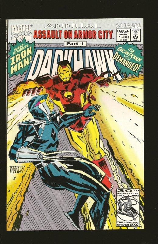 Marvel Comics Darkhawk Annual #1 (1992)