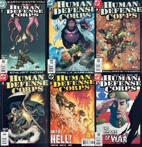 HUMAN DEFENSE CORPS (2003) 1-6  COMPLETE!