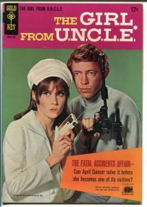 Girl from U.N.C.L.E. #1 1966-Gold Key-1st issue-Stefanie Powers-N. Harrison-VF-