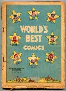 World's Best #1 1942-DC-Batman-Superman-Robin-Zatara- incomplete