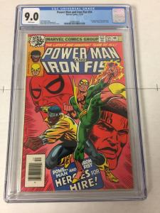 Power Man And Iron Fist 54 Cgc 9.0 White Pages