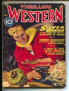 Thrilling Western Pulp 12/1946-Gunfight cover-Pulp thrills by Jackson Cole-St...
