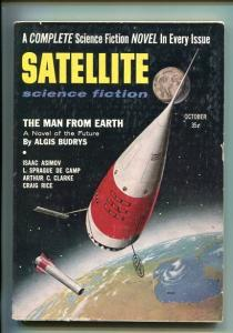 SATELLITE-#1-MAR 1957-PULP-SCI-FI-ROCKET-SOUTHERN STATES PEDIGREE-vf